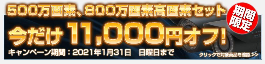 年始キャンペーン!500万画素、800万画素セットがお得!